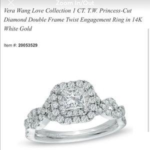 Vera Wang Engagement ring / Zales wedding band